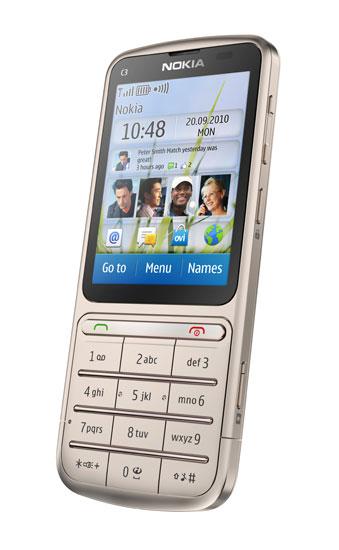 Nokia C3 Touch and Type – практичность по умеренной цене
