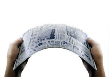 В компании LG придумали газету будущего