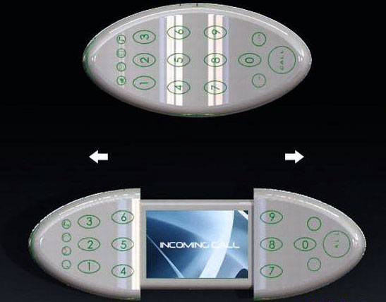 Простенький телефон с необьiчньiм дизайном