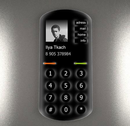 Сенсорньiй дисплей с вьiпукльiми кнопками - особенность телефона Ku
