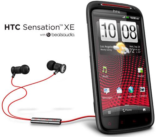 HTC и Beats представили новый HTC Sensation XE – первый телефон с интегрированной технологией Beats Audio