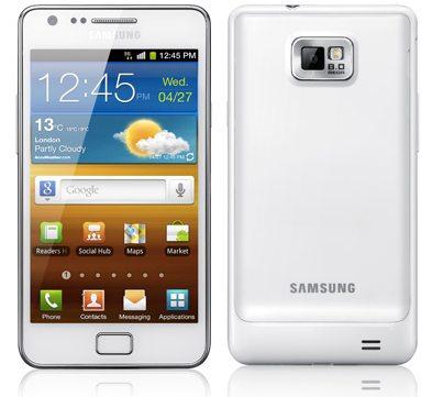 Белый Samsung Galaxy S II выйдет в сентябре