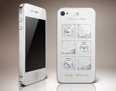 iPhone 4 Lady Blanche: смартфон со швейцарскими часами, бриллиантами или кристаллами Swarovski
